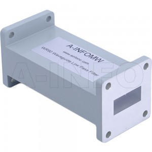 90LB-LP-8200-12400 WR90 Waveguide Low Pass Filter 8.2-12.4Ghz with Two Rectangular Waveguide Interfaces