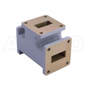 90WET WR90 Waveguide E-Plane Tee 8.2-12.4GHz with Three Rectangular Waveguide Interfaces