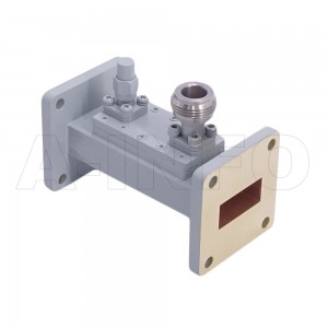 90WHCN-40_Cu WR90 Waveguide Loop Coupler WHCx-XX Type 8.2-12.4GHz 40dB Coupling N Type Female