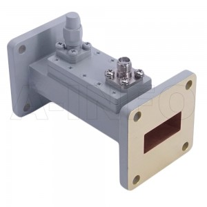 90WHCS-60_Cu WR90 Waveguide Loop Coupler WHCx-XX Type 8.2-12.4GHz 60dB Coupling SMA Female