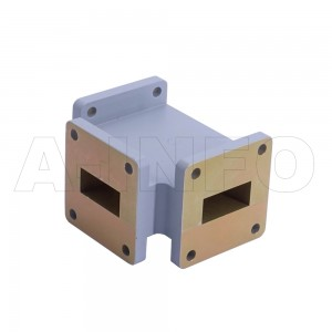 90WHT WR90 Waveguide H-Plane Tee 8.2-12.4GHz with Three Rectangular Waveguide Interfaces