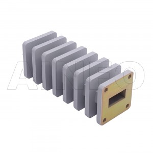 90WMPL50 WR90 Waveguide Low-Medium Power Load 8.2-12.4GHz with Rectangular Waveguide Interface