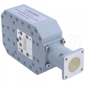 90WOMTC25-02 WR90 Waveguide Ortho-Mode Transducer(OMT) 8.2-12.4GHz 25mm(0.984inch) Circular Waveguide Common Port