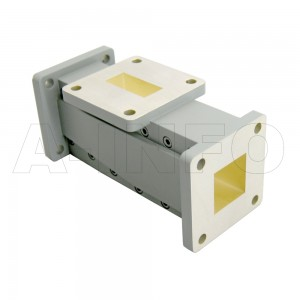 90WOMTS17-26 WR90 Waveguide Ortho-Mode Transducer(OMT) 9.3-12.4GHz 17mm(0.669inch) Square Waveguide Common Port