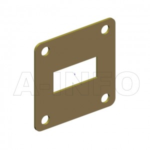 90WSPA-1.06_Cu WR90 Customized Spacer(Shim) 8.2-12.4GHz with Rectangular Waveguide Interfaces