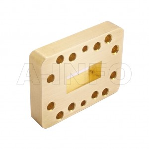 90WSPA14_Cu_P0 WR90 Wavelength 1/4 Spacer(Shim) 8.2-12.4GHz with Rectangular Waveguide Interfaces