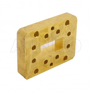 90WSPA14_Cu_PA WR90 Wavelength 1/4 Spacer(Shim) 8.2-12.4GHz with Rectangular Waveguide Interfaces