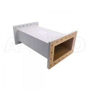 975WAL-500 WR975 Rectangular Straight Waveguide 0.75-1.12GHz with Two Rectangular Waveguide Interfaces