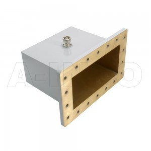 975WCA7/16 Right Angle Rectangular Waveguide to Coaxial Adapter 0.75-1.12GHz WR975 to 7/16 DIN Female
