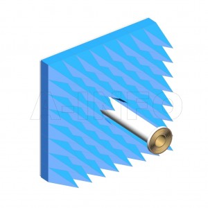 LB-ACH-187-10-C-7-A1 Linear Polarization Corrugated Feed Horn Antenna 3.95-5.85GHz 10dB Gain 7mm Equipped with Absorber
