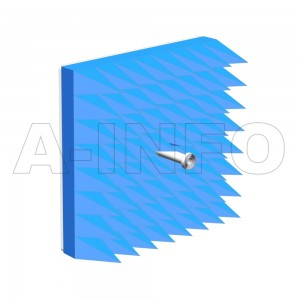 LB-ACH-34-10-T06-A-A1 Dual Linear Polarization Corrugated Feed Horn Antenna 22-29GHz 10dB Gain Rectangular Waveguide Interface Equipped with Absorber