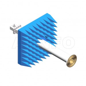 LB-ACH-975-10-C-SF-A1 Linear Polarization Corrugated Feed Horn Antenna 0.75-1.12GHz 10dB Gain SMA Female Equipped with Absorber