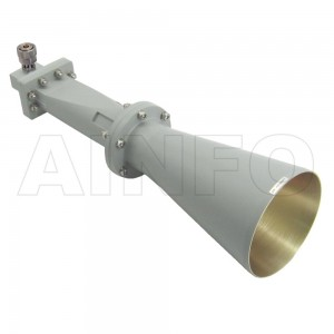 LB-CNH-137-15-C-7 Linear Polarization Conical Horn Antenna 5.85-8.2GHz 15dB Gain 7 mm