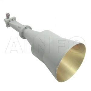 LB-CNH-137-20-C-7 Linear Polarization Conical Horn Antenna 5.85-8.2GHz 20dB Gain 7 mm
