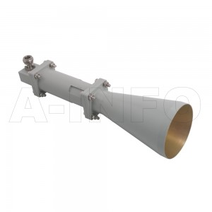 LB-CNH-90-15-C-NF Linear Polarization Conical Horn Antenna 8.2-12.4GHz 15dB Gain N Type Female