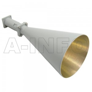 LB-CNH-90-20-A Linear Polarization Conical Horn Antenna 8.2-12.4GHz 20dB Gain Rectangular Waveguide Interface