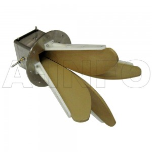LB-OSJ-0760-P01 Left Hand Circular Polarization(LHCP) Horn Antenna 0.7-6GHz 10dB Gain SMA Female
