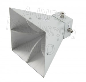 LB-SJ-10100-NF Broadband Dual Polarization Horn Antenna 1-10GHz 10dB Gain N Type Female