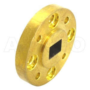 10-FUGP900_Cu WR10 Waveguide Flange 75-110GHz with Rectangular Waveguide Interface