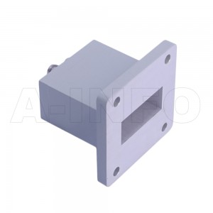 112WECAS Endlaunch Rectangular Waveguide to Coaxial Adapter 7.05-10GHz WR112 to SMA Female