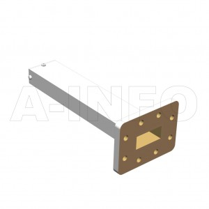 112WMPL25_EP WR112 Waveguide Low-Medium Power Load 7.05-10GHz with Rectangular Waveguide Interface