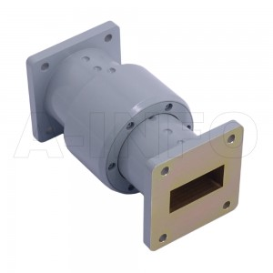 112WRJI-06A WR112 I-Type Single Channel Waveguide Rotary Joint 7.05-10GHz with Two Rectangular Waveguide Interfaces