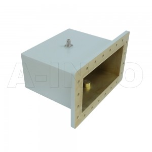 1150WCAN Right Angle Rectangular Waveguide to Coaxial Adapter 0.64-0.96GHz WR1150 to N Type Female