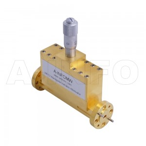 10WVA-30_Cu WR10 Waveguide Variable Attenuator 75-110GHz with Two Rectangular Waveguide Interfaces