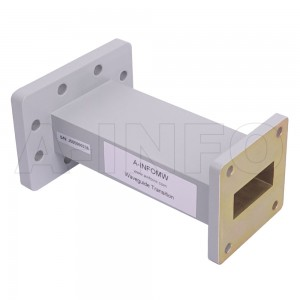137112WA-101.6 Rectangular to Rectangular Waveguide Transition 7.05-8.2GHz 101.6mm(4inch) WR137 to WR112