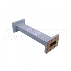137WAL-300 WR137 Rectangular Straight Waveguide 5.85-8.2GHz with Two Rectangular Waveguide Interfaces