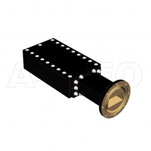 137WMPL200_AE WR137 Waveguide Low-Medium Power Load 5.85-8.2GHz with Rectangular Waveguide Interface