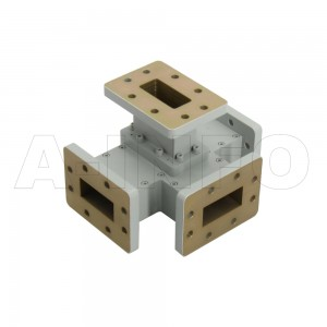 137WMT WR137 Waveguide Magic Tee 5.85-8.2GHz with Four Rectangular Waveguide Interfaces