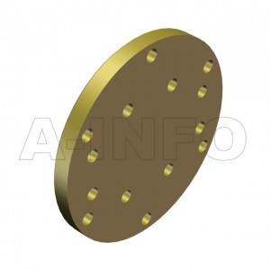 137WS_P0 WR137 Waveguide Short Plates 5.85-8.2GHz with Rectangular Waveguide Interface