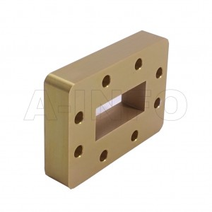 137WSPA14 WR137 Wavelength 1/4 Spacer(Shim) 5.85-8.2GHz with Rectangular Waveguide Interfaces