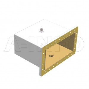1800WCANM Right Angle Rectangular Waveguide to Coaxial Adapter 0.41-0.62GHz WR1800 to N Type Male
