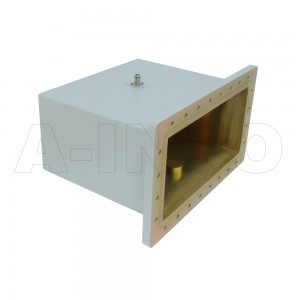 1500WCAN Right Angle Rectangular Waveguide to Coaxial Adapter 0.49-0.75GHz WR1500 to N Type Female