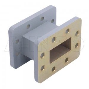 159WAL-50 WR159 Rectangular Straight Waveguide 4.9-7.05GHz with Two Rectangular Waveguide Interfaces