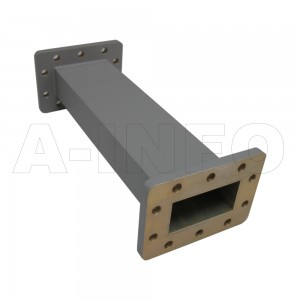159WFA-10 WR159 General Purpose Waveguide Fixed Attenuator 4.9-7.05GHz with Two Rectangular Waveguide Interfaces