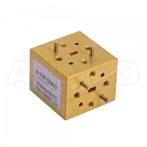 15WET_Cu WR15 Waveguide E-Plane Tee 50-75GHz with Three Rectangular Waveguide Interfaces