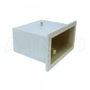 1500WCA7/16 Right Angle Rectangular Waveguide to Coaxial Adapter 0.49-0.75GHz WR1500 to 7/16 DIN Female