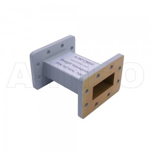 187WAL-100 WR187 Rectangular Straight Waveguide 3.95-5.85GHz with Two Rectangular Waveguide Interfaces
