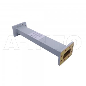 187WAL-300 WR187 Rectangular Straight Waveguide 3.95-5.85GHz with Two Rectangular Waveguide Interfaces