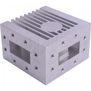 187WCIC-4450-20-600 WR187 Waveguide Circulator 4.4-5Ghz with Three Rectangular Waveguide Interfaces