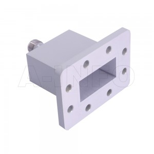 187WECAN Endlaunch Rectangular Waveguide to Coaxial Adapter 3.95-5.85GHz WR187 to N Type Female