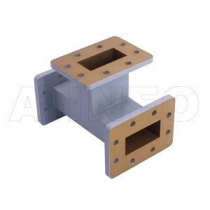 187WET WR187 Waveguide E-Plane Tee 3.95-5.85GHz with Three Rectangular Waveguide Interfaces