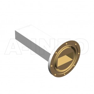 187WMPL40_AE WR187 Waveguide Low-Medium Power Load 3.95-5.85GHz with Rectangular Waveguide Interface