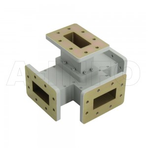 187WMT WR187 Waveguide Magic Tee 3.95-5.85GHz with Four Rectangular Waveguide Interfaces