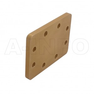 187WS WR187 Waveguide Short Plates 3.95-5.85GHz with Rectangular Waveguide Interface