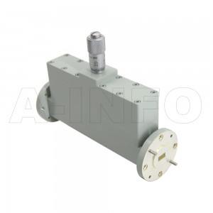 19WVA-30_Cu WR19 Waveguide Variable Attenuator 40-60GHz with Two Rectangular Waveguide Interfaces