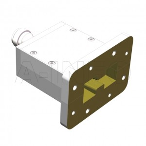 200DRWECAN Endlaunch Double Ridge Waveguide to Coaxial Adapter 2-4.8GHz WRD200 to N Type Female